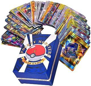Uppsättning med 120 st Pokémonkort, blandade tecknade spelkort, barn GX samlarkort inklusive 30 st Team Up + 50 st Mega + ...