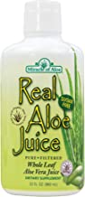 Real Aloe Whole-Leaf Pure Aloe Vera Juice - Made from Organically Grown Aloe Vera Leaves Purified & Filtered (1 Quart)