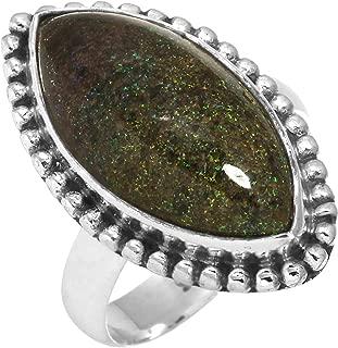Natural Honduran Black Matrix Opal Gemstone Ring Solid 925 Sterling Silver Modern Jewelry Size 6