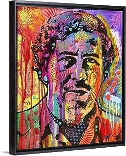 Pablo Escobar Black Floating Frame Canvas Art, 26