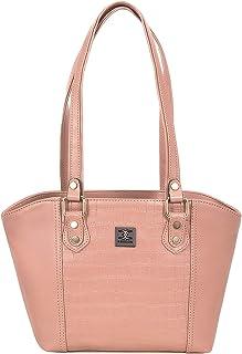 ESBEDA Peach Color Solid Croco Handbag For Women