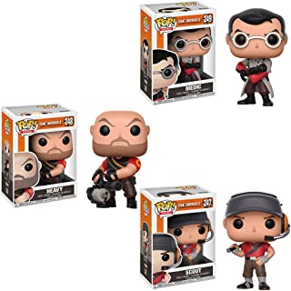 Funko Pop Games Team Fortress 2 Heavy, Medic, Scout Vinyl Figures SET