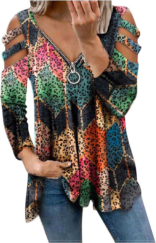 Women Long Sleeve Shirts,Womens Crewneck Sweatshirts Oversized Long Sleeves Off The Shoulder Flower Print Pullover