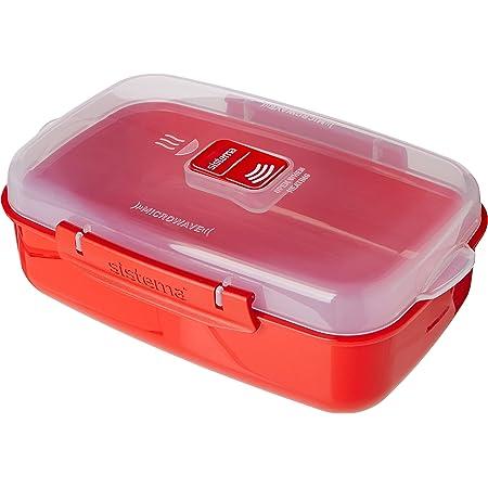 Sistema SI1114 Boîte à micro-ondes 1,25l en rouge, Plastique, 45x35x25 cm