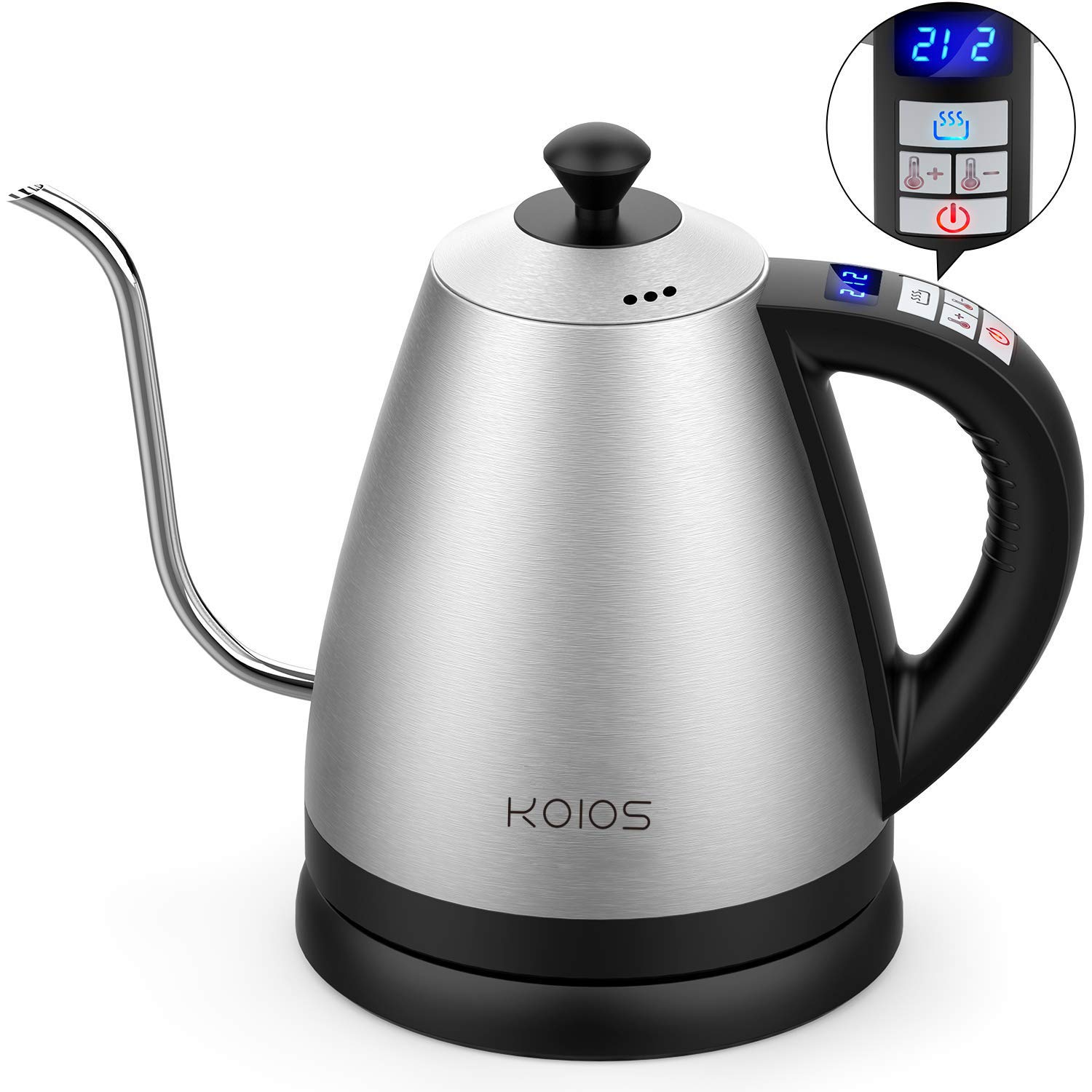 Electric Temperature Gooseneck Pour Over Stainless