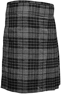 Highland Grey Men`s 5 Yard Scottish Kilts Tartan Kilt 13oz Highland Casual Kilt