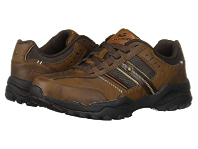 SKECHERS Relaxed Fit Henrick Delwood (Dark Brown) Men