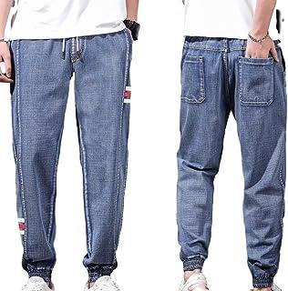 unknow YYXDP Pantaloni della Tuta da Uomo in Jeans, Jeans Taglie Forti, Jeans Larghi in Vita Elastica, Pantaloni in Denim ...