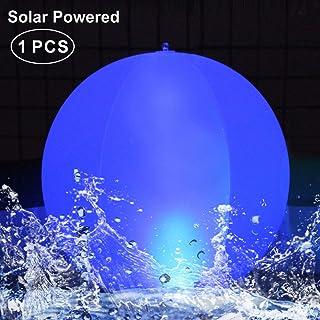 Luces solares Inflable,Luz LED para piscina,Luces Solar para Exteriores Resistente al agua IP68 Globo Solar,Lámpara de Bola de Piscina,Luz nocturna LED, Deco de fiesta para Piscina,Boda,Playa(1Pcs)