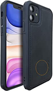 Molzar MAG Series iPhone 11 Case, Built-in Metal Plate for Magnetic Car Phone Holder, Support Qi Wireless Charging, Compatible with iPhone 11, Black