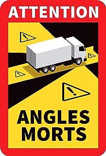 Angles morts sur les véhicules lourds - Autocollant waterproof - L.170 x H.250 - Lot de 6