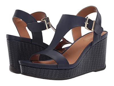 Kenneth Cole Reaction Card Wedge (Navy) Women