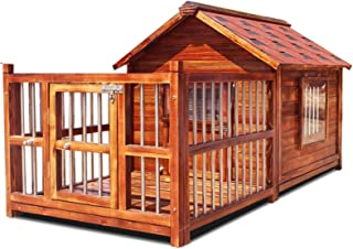 Dog Cage Kennel Outdoor Wooden Dog House Large Waterproof Washable Dog House Indoor Cat Guinea Pig Puppy House Mosquito Re...