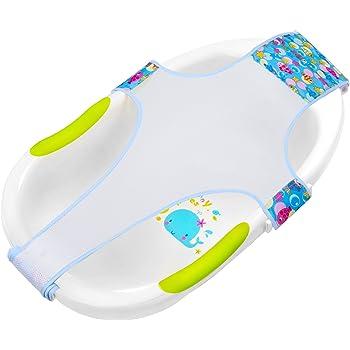 Baby Kunststoff Badewannensitz Faltbarer Baby Badewannensitz mit R/ückenlehne Unterst/ützung und Saugn/äpfen Baby Badewannensitz f/ür Stabilit/ät-Baby Badesitz