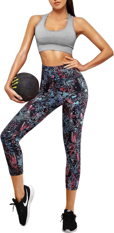 OMANTIC Pantalones de Yoga para Mujer con Bolsillos Cintura Alta Mallas de Entrenamiento para Correr Control de Barriga