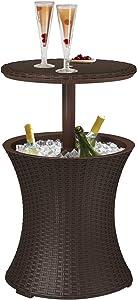 Keter - Mesa de Fiesta Pacific Cool Bar, Color marrón