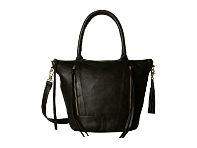 Day & Mood Neel Satchel (Black) Satchel Handbags