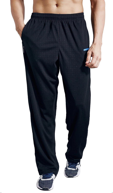 ZENGVEE Men's Super Special SALE held Sweatpants with Spasm price Zipper Open Athleti Pockets Bottom
