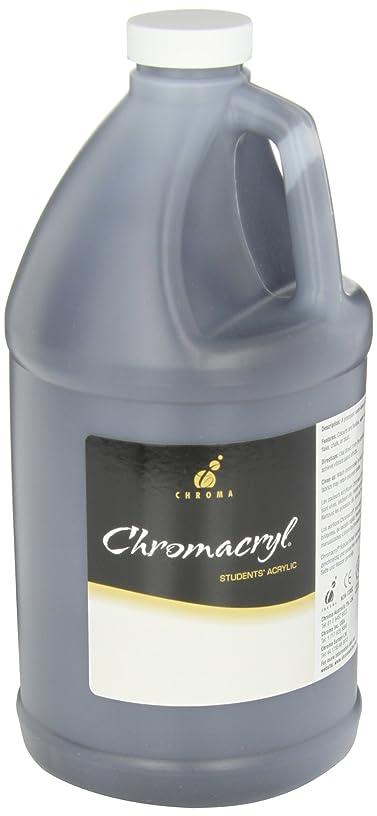 Chromacryl Premium Student Acrylic Paint, 1/2 Gallon Jug, Black