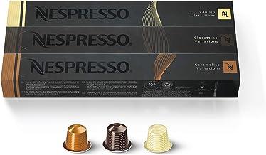 Nespresso Capsules OriginalLine , Flavored Variety Pack, Medium Roast Coffee, 30 Count..