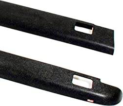 Wade 72-41111 Truck Bed Rail Caps Black Smooth Finish with Stake Holes for 1988-1998 Chevrolet GMC 1500 2500 3500 with 6.5ft bed (Set of 2)
