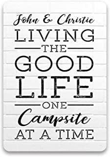 Juchen Camper Decor Sign, Living The Good Life Rv Decor, Glamping Accessories for Camping, Camper Decorations for Travel T...