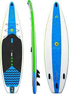 Body Glove Dynamo Signature Edition Inflatable Stand Up Paddle Board, White/Aqua, 10'8