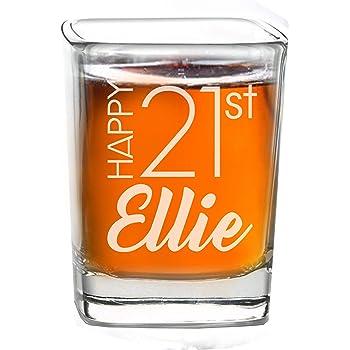21st Birthday Tall Shot Glass Brights