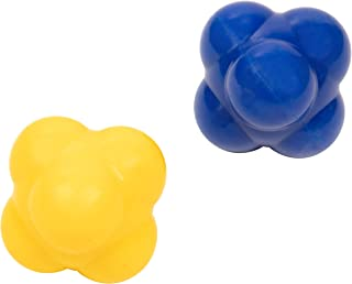 Juvale 2-Pack Rubber Reaction Bounce Balls for Hand-Eye Coordination, Agility & Speed Reflex Training