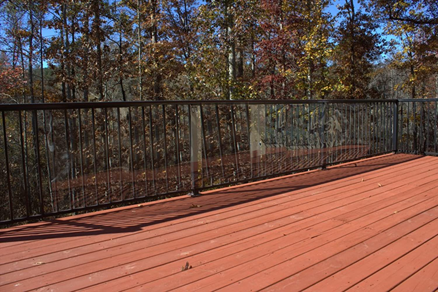 Cardinal Gates Outdoor Deck Shield for Pets, 15Feet, Clear