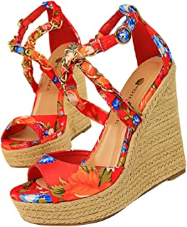 De Zapatos Tacón MujerY Amazon esCañamo Para 7vby6Yfg