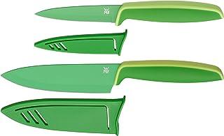 WMF Touch Juego de 2 Funda Protector, Verde, Cuchillo de Cocina 24 cm y Cuchillo Multiusos de 20.5 cm