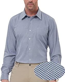 PAUL JONES Men's Modern Fit Checkered Shirt Gingham Plaid Dress Shirt