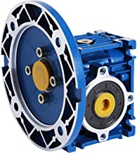 Happybuy Speed Reducer Ratio 15/1 Worm Gear Speed Reducer 1750RPM High Torque Worm Gear Reducer Perfect for Electric Door Mini Crane Hoist