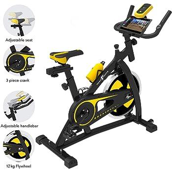 Bicicleta de Ejercicios Aeróbicos Spinning Nero Sport para Interiores Bicicleta Estática de Entrenamiento Fitness Ejercicios Cardiovasculares: Amazon.es: Deportes y ...