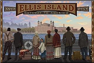 Ellis Island New York Travel Art Print Poster by Paul A. Lanquist (24
