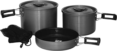 Texsport Trailblazer Hard Anodized Camping Cookware- Car Camping Cookware review