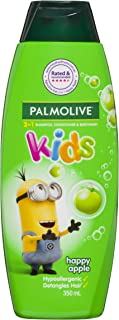 Palmolive Kids 3 in 1 Hypoallergenic Hair Shampoo, Conditioner and Body Wash Minions Happy Apple, 350mL