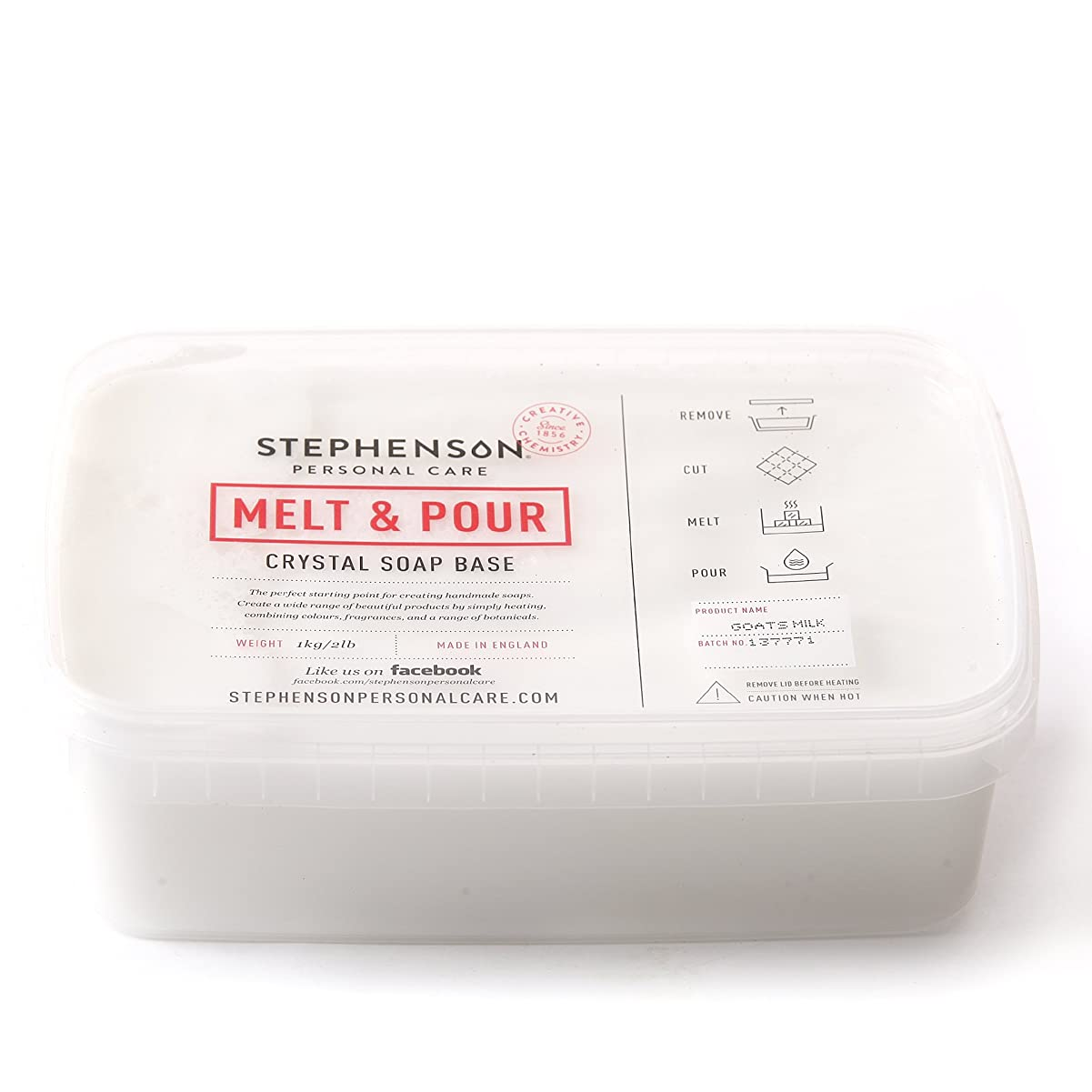 バリケード女王ブッシュMelt and Pour Soap Base Goat's Milk - 1Kg