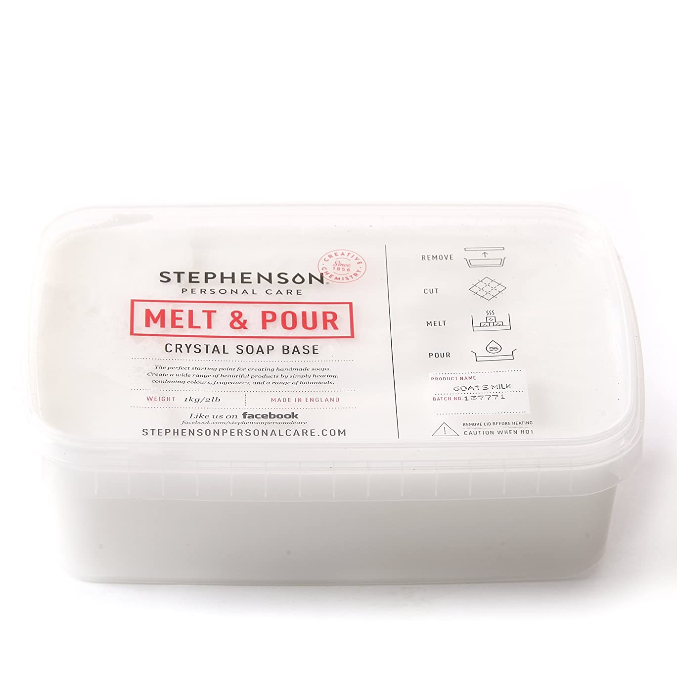 前提条件提出する厳密にMelt and Pour Soap Base Goat's Milk - 1Kg