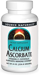Source Naturals Calcium Ascorbate, Vitamin C Crystals - Supports Immune System - 8 oz
