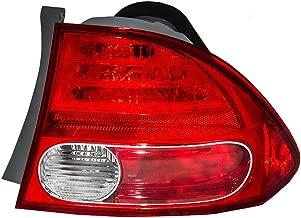Passengers Taillight Quarter Panel Mounted Tail Lamp Replacement for Honda 33501SNAA02 AutoAndArt