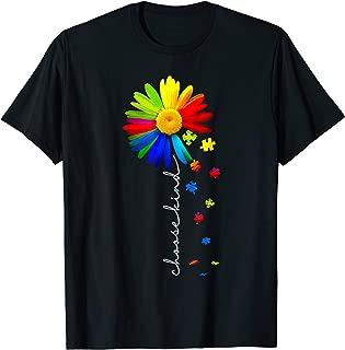 choose kind Autism awareness daisy flower shirt, warrior