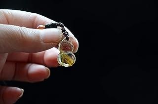 Collectible Tibetan Himalayan High Altitude Gold Rutilated Crystal Quartz Gourd Calabash Pendant Realstic Carving Art 0.86 Inch Spiritual Reiki Healing