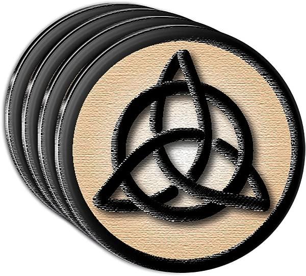 Celtic Triquetra Circle Knot Irish Acrylic Coaster Set Of 4