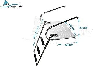Marine City Stainless Steel Marine 3 Step I/B Swim Platform Ladder