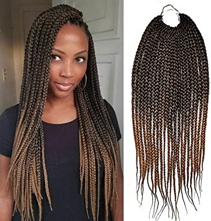 Amazon.com: Box Braid Style crochet hair 18 inch 6 packs ...