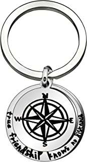 Keyrings BFF Gifts Long Distance Relationship Gifts True Friendship Know No Distance