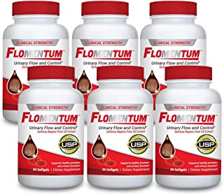 Flomentum™ Men's Health Supplement – Supports Healthy Prostate and Urinary Function – Clinical Strength, USP Verified (180 Count)