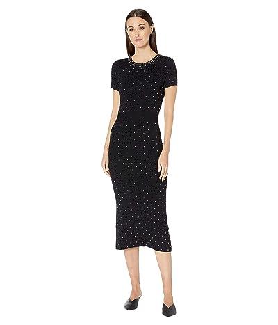 The Kooples Maxi Knit Dress with Studs (Black) Women
